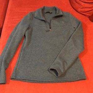 The North Face green pullover sweater